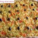 pizza verduras portada - Pizza integral de verduritas y aceitunas