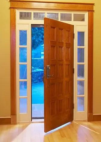 puerta de casa - Para que no entre el frío por la puerta. Los viernes de Ecología Cotidiana