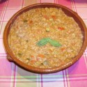 sopa de tomate - Receta de sopa de tomate con pan viejo al aroma de hierbabuena
