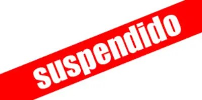 suspendido -