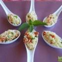 tabule - Receta de tabulé en cucharitas de aperitivo