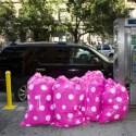 trash - Bolsas de basura ecológicas y de diseño: conciencia ambiental verde y rosa...