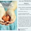 una nueva maternidad2 - Presentación del libro Una Nueva Maternidad en Madrid
