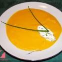 zanahorias - Crema de zanahoria con chantilly de cebollino