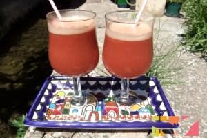zumos - Zumo de frambuesas, manzanas y melocotones