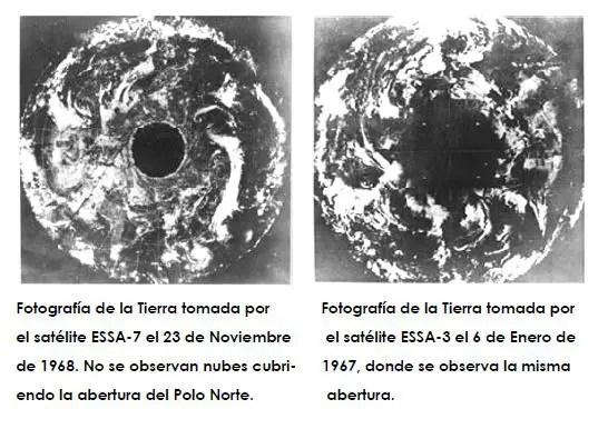 tierra hueca dos fotos - LA TIERRA HUECA: aperturas solares, dos nuevos continentes y civilización intraterrena