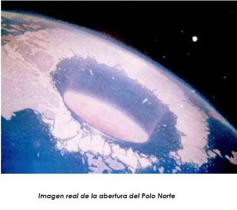 tierra hueca polo norte - LA TIERRA HUECA: aperturas solares, dos nuevos continentes y civilización intraterrena