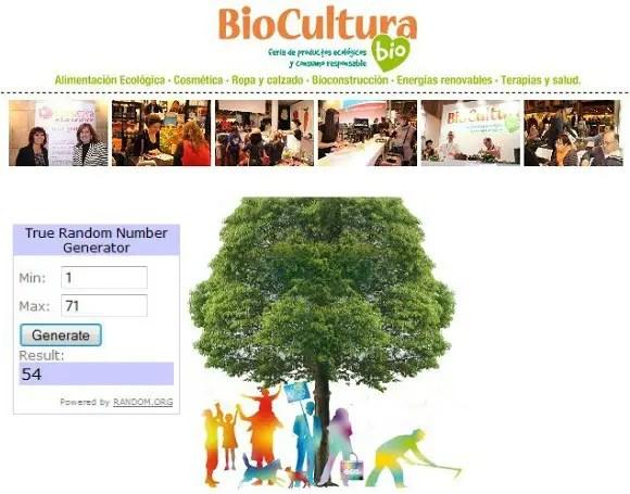 Ganadores Biocultura Valencia 2013 sorteo entradas - GANADORES del sorteo de 20 entradas dobles para Biocultura Valencia 2013