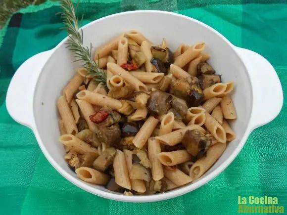 pasta berenjenas al romero - Mini brownies de espelta y nueces  y 5 recetas más de La Cocina Alternativa