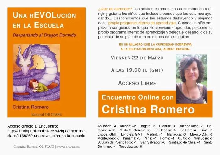 """Una Revolución en la Escuela ONLINE - Encuentro online gratuito: """"Una rEVOlución en la escuela. Despertando al dragón dormido"""""""
