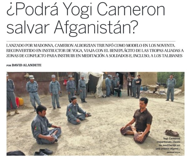yogi cameron1 - YOGA, MODA Y GUERRA, la historia de Yogi Cameron: reinventarse y ayudar a los demás