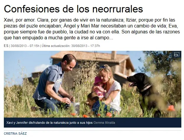 confesiones de neorrurales - CONFESIONES DE NEORRURALES: artículo de La Vanguardia con varios editores de El Blog Alternativo