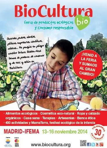 Cartel Biocultura Madrid 2014 - SORTEO de 20 entradas dobles para Biocultura Madrid 2014