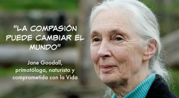 """jg - """"LA COMPASIÓN puede cambiar el mundo"""" Jane Goodall"""