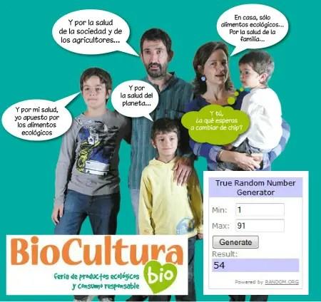 Ganadores Sorteo Biocultura Valencia 2015