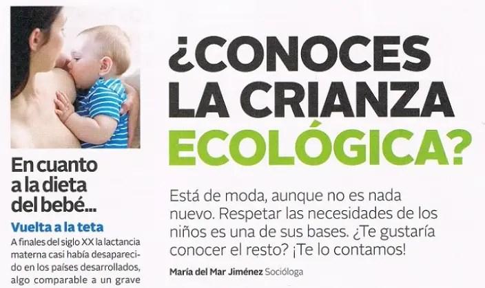crianza eco1 - CRIANZA ECOLÓGICA: nuestro artículo en la revista El mundo de tu bebé