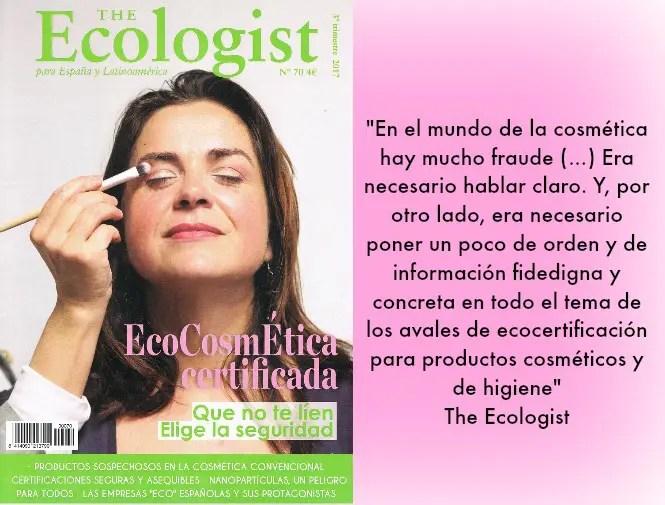 ecologist 70 - EcoCosmética certificada, la apuesta segura: revista The Ecologist 70