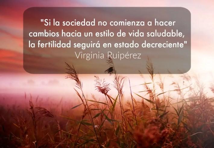 """fertilidad - """"La fertilidad humana está íntimamente relacionada con el estilo de vida moderno"""" Entrevista a Virginia Ruipérez"""
