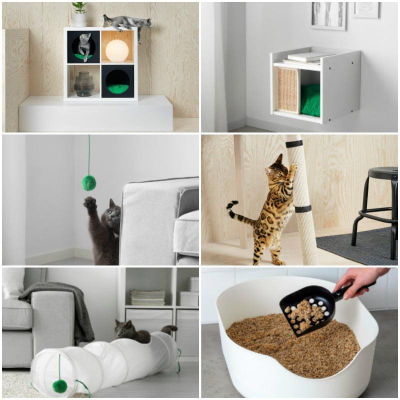 muebles para gatos de ikea LURVIG