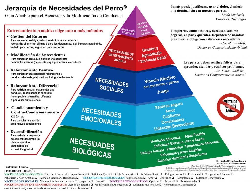 pirámide de necesidades caninas