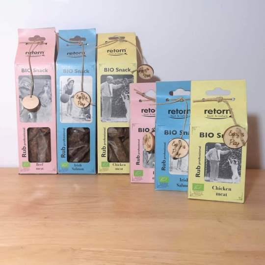 snacks naturales para rellenar juguetes interactivos