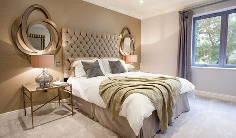 dormitorio en colores neutros