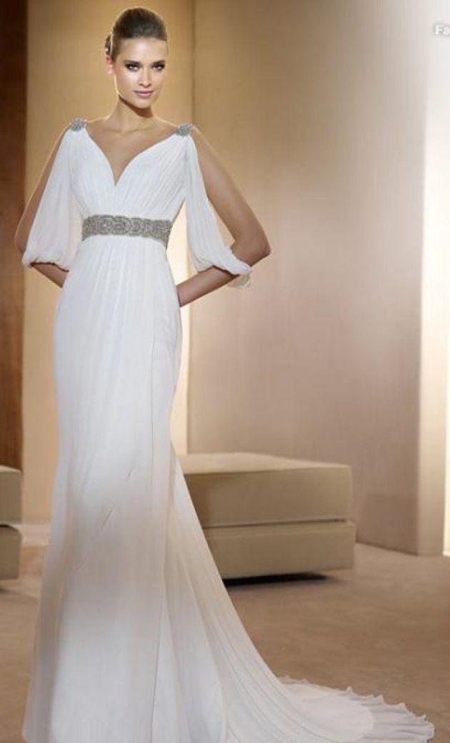 El color blanco en vestidos románicos o griegos