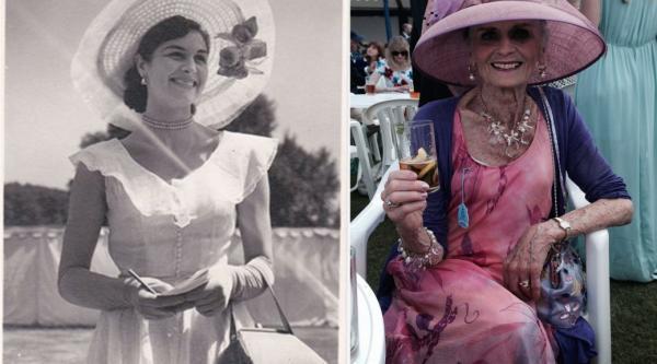 La modelo Daphne Selfe en su juventud y en su longevidad