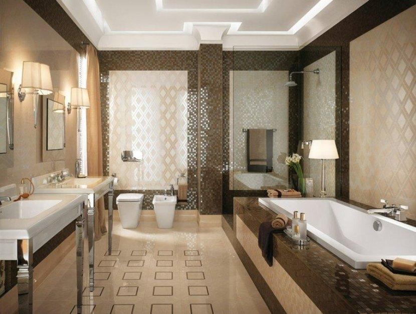 baño en estilo ecléctico