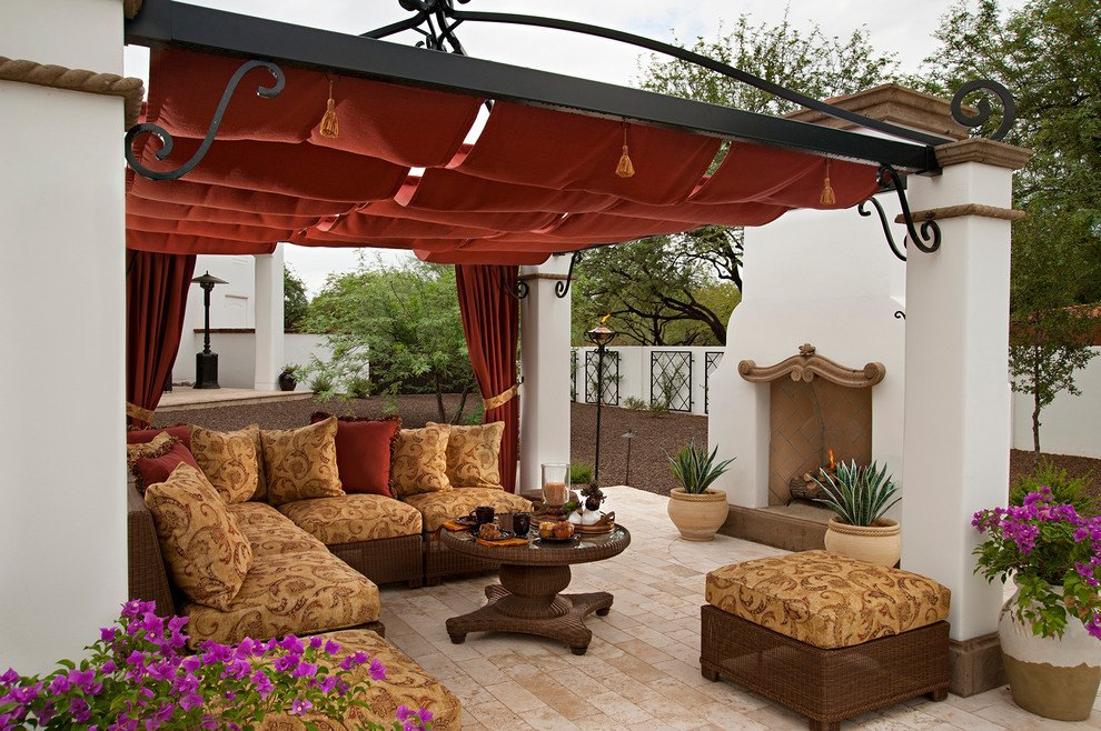 terraza-patio rústica
