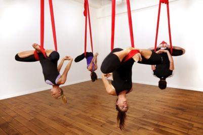 Clase de aero yoga