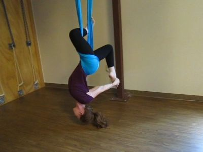 Aero yoga ejercicio