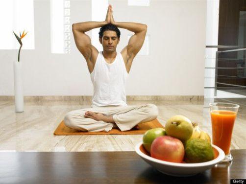 Comer para un yogi: meditando en Parvat Asana