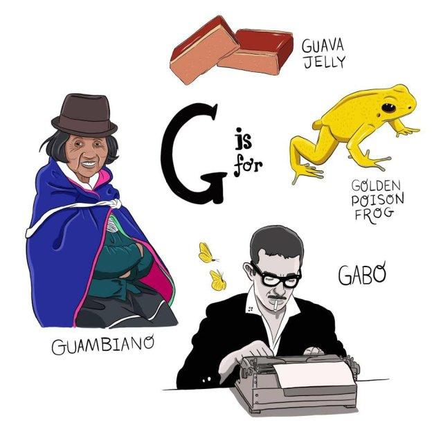 abecedario colombiano el bogotano g