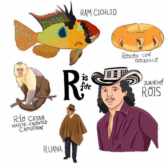 abecedario colombiano el bogotano r