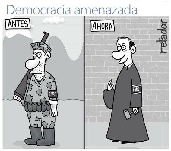 Democracia amenazada-Retador