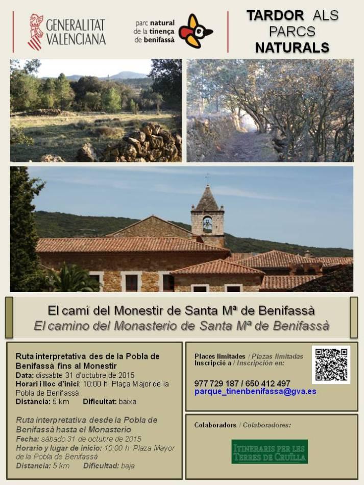 activitats parc natural tinença el boixar monestir portell del infern allotjament rural tinença de benifassà