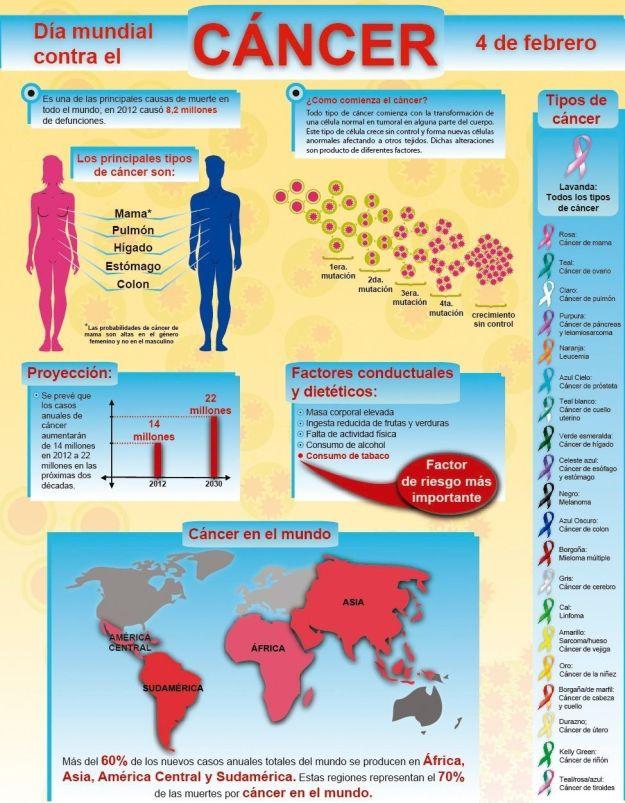 Infografia sobre la evoulución del cancer
