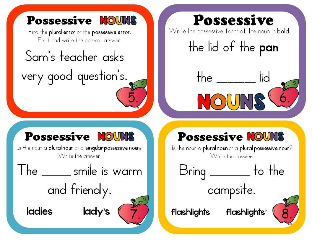 Grammar Lesson Singular And Plural Possessive Nouns