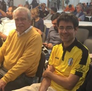 Alfredo Vidal y Javier Perea, capitanes del equipo sub12