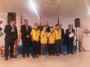 El equipo El Caballo de Casabermeja recoge el tercer premio de la Copa de España por equipos sub12
