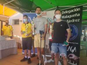 Podium de vencedores del Open rápido de Casabermeja