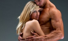 couple hugging naked