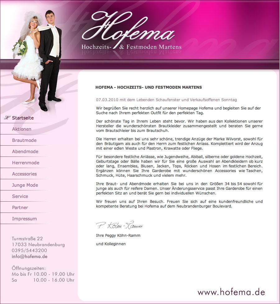 Hofema -Hochzeits- und Festmoden Martens › el caramba ...