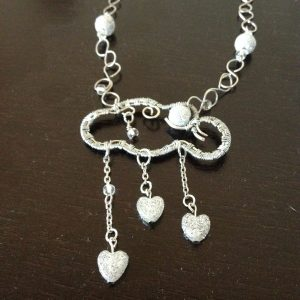 Silver cloud necklace