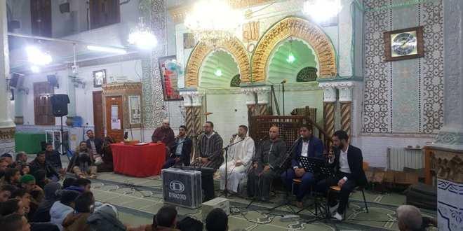 بمناسبة ليال المولد النبوي الشريف حفل لنخبة من المنشيدين بمسجد صلاح الدين
