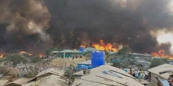 """بنجلاديش  عشرات القتلى في حريق """"مخيم الجزائر"""" المخصص للاجئين من بورما"""