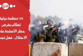 120 منظمة دولية تطالب بفرض حظر الأسلحة على الاحتلال