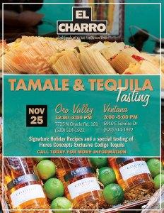 Tamale & Tequila Tasting @ El Charro Café - Ventana