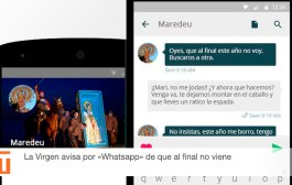 La Virgen avisa por 'Whatsapp' de que al final no viene